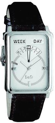 D&G Dolce&Gabbana D&G Sea Quest – Reloj analógico unisex de cuarzo con correa de piel marrón – sumergible a 30 metros