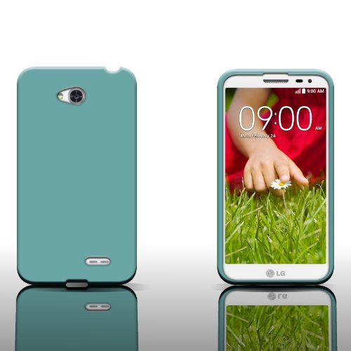 For LG Pulse / LG Ultimate 2 L41c by CoverON® Silicone Soft Skin Case Cover - Teal