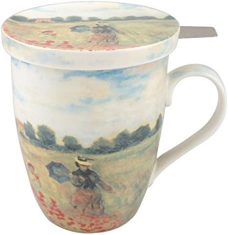 Multicolor McIntosh MC020088 Van Gogh Starry Night Tea Mug with Lid