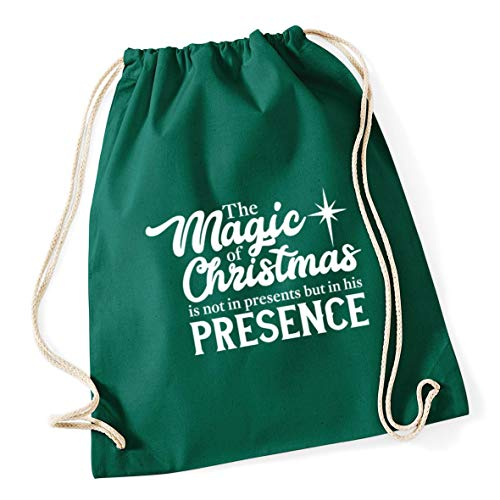 christmas The 46cm Green presence his x Bottle litres but Gym in Drawstring 37cm of magic Cotton School is presents 12 Hippowarehouse Bag the not in dfqtn