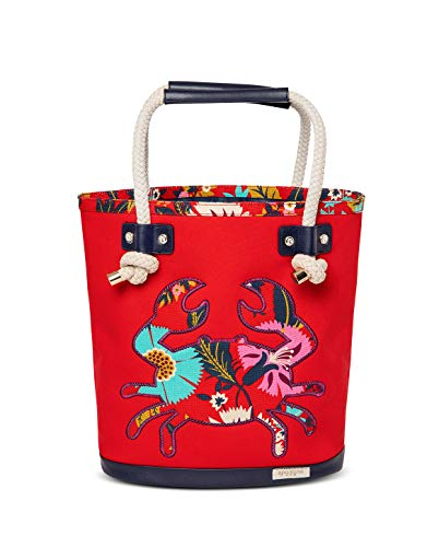 (Little Bermuda Crab Canvas Beach Bag)
