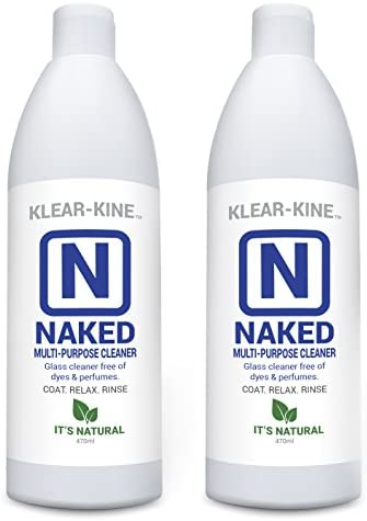 KLEAR Kryptonite Naked Glass Cleaner | Original Clay Based Formula | Tar and Resin Remover | Pipe Cleaner | 470ml Bottle | 2 Pack (32oz)