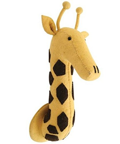 Wall Decor wall hanging wool made animal head Giraffe Head (Felt Wall)