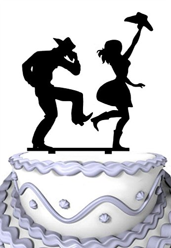 Meijiafei Cowgirl and Cowboy Dancing Wedding Anniversary Acrylic Decoration]()
