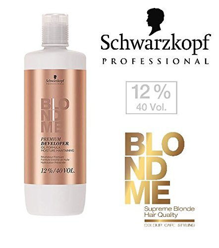 Schwarzkopf Professional Blonde Me Premium Developer Oil Formula 33.8 oz / 1000ml (12% ; 40 Volume)