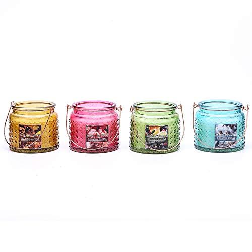 - Supreme Lights Jar Candle Set(4pcsx8oz) Natural Scented Rose, Kapok, Autumn Leaves and Sage & Citrus
