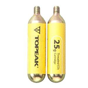 Topeak - Cartucho de CO2 roscado (25 g, 2 unidades)