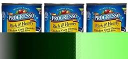 Progresso Chicken Corn Chowder, Flavored with Bacon, 18.5 oz, 3 pk