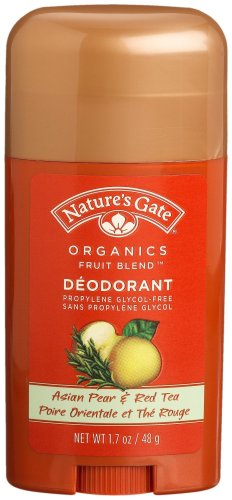 Nature's Gate Organics Fruit Blend Deodorant, Asian Pear & Red Tea, 1.7-Ounce Sticks (Pack of 4)