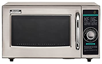 2 x Sharp Electronics R-21LCF Microwave Oven, 1000 watts, stainless steel door timer