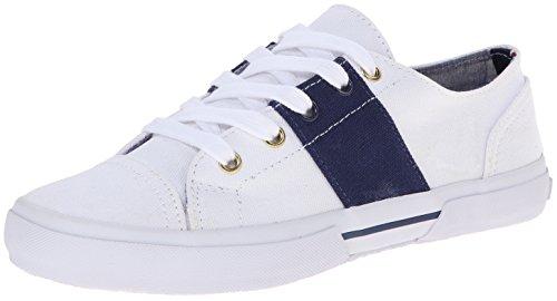 Tommy Hilfiger Women's Ronni2 Fashion Sneaker, White/Blue, 9.5 M US