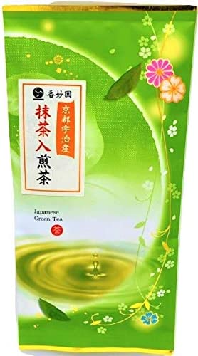 京都 宇治香妙園 抹茶入り緑茶 80g