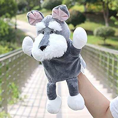 Xeagt Cute Cartoon Dog Doll Kids Animal Hand Puppet Dolls Soft Plush Toys for Story Telling for Parent-Child Interactive: Home & Kitchen