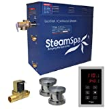 Steam Spa OAT1050BN-A Oasis 10.5 KW Quick Start Acu-Steam Bath Generator Package with Built-In Auto Drain, Brushed Nickel