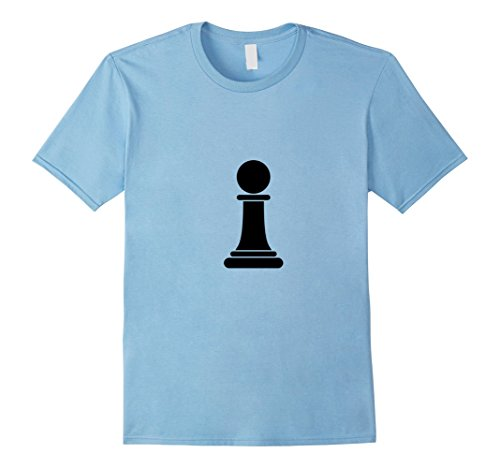 Mens Chess Piece Group Costume Shirt - PAWN (black) Large Baby Blue (Halloween Contest For Workplace)