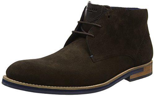 Uomo Baker Ted Brown Navy Daiinos Chukka Stivali Sole Marrone 6IqnPqUA