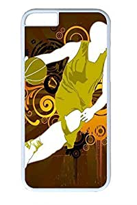 Basketball Players Slim Soft Cover for iPhone 6 Plus Case ( 5.5 inch ) PC White Cases in GUO Shop