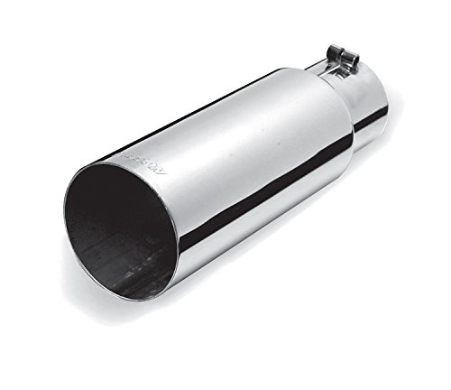 Gibson 500362 Polished Stainless Steel Exhaust Tip (Tip Gibson Exhaust)