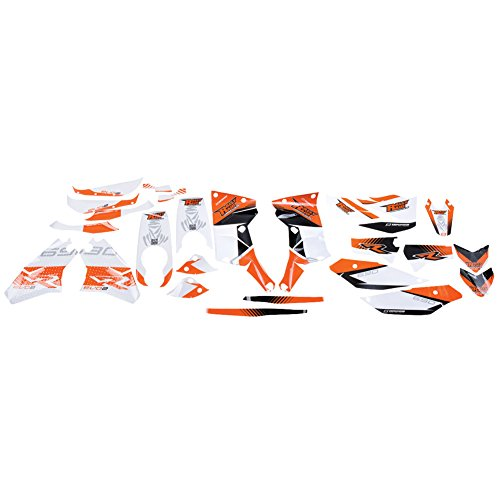 Evo2 Complete Kit (Rally Raid Products EVO2 Adventure Fairing and Fuel Tank Graphics Kit White - Fits: KTM 690 ENDURO 2008-2017)
