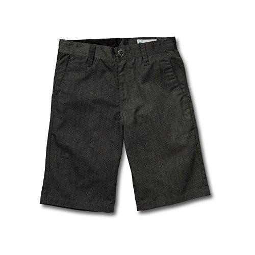 Volcom Big Boys Frickin Chino Short, Charcoal Heather, 28 (Volcom Skateboard)