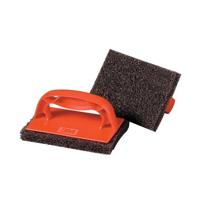 scotch-brick-griddle-scrubber-in-red-and-brown