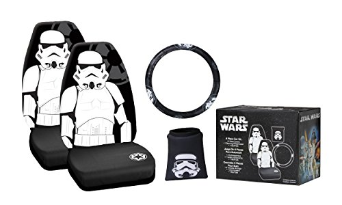 Plasticolor 006689A Star Wars Multi-Color 'Stormtrooper' 4-Piece Combo Kit (Star Wars Seat Cover Set compare prices)