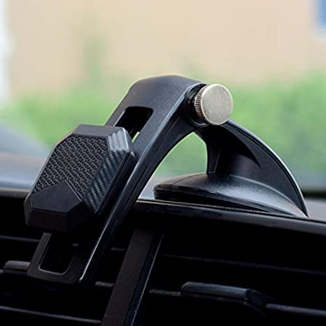 Black YunLeJP Magnetic Phone Holder for Car Magnetic Mount Strong Sucker 360 Degree Rotation Any Adjustment Position,for All Cell Phones with Fast Swift-Snap Technology