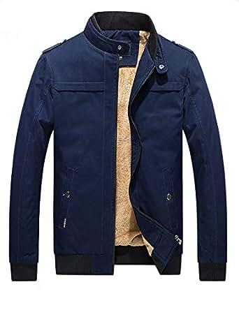 D.B.M Men's Winter Plus Velvet Thickening Collar Cotton