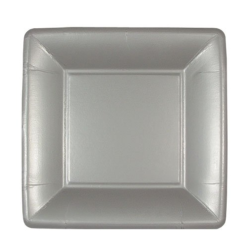 Amazon.com Lillian 24-Pack Square Paper Plates 7-Inch Silver Dinner Plates Kitchen u0026 Dining  sc 1 st  Amazon.com & Amazon.com: Lillian 24-Pack Square Paper Plates 7-Inch Silver ...
