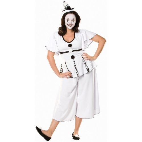 Flapper Costumes, Flapper Girl Costume Gigi the Pierrot Adult Plus Costume (Adult Costume) $27.99 AT vintagedancer.com