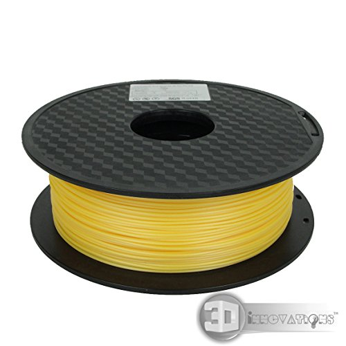 3D Innovations™ 3D Printer Filament (1 Kg, PLA, Gold,1.75 mm Dia.)