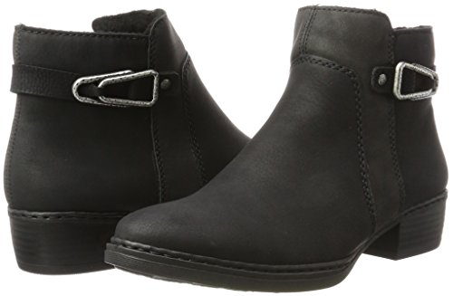 Bottes Femme schwarz X1062 anthrazit schwarz Rieker Noir aq456wnxxS