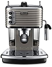 De'Longhi ECZ351.BG, Macchina per caffè espresso manuale Scultura, 1100 W, Acciaio inossidabile , Beige