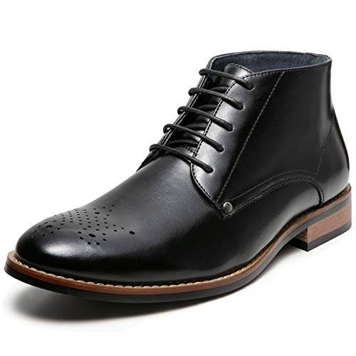 Men's Oxford Dress Leather Lined Cap Toe Angle Boots(9.5 M US,Black-6)