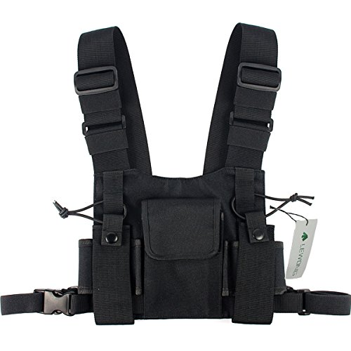 Lewong Radio Carry Case Chest Pocket Universal Bag Holster for Two Way Radio (Ems Rescue Vest)