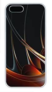 3D abstract designs 2 iphone 5S cases PC White for Apple iPhone 5/5S