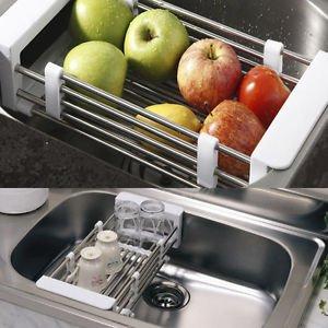 Telescopic Kitchen Sink Dish Drying Rack Insert Storage Organizer Tray (Glass Rack Insert)