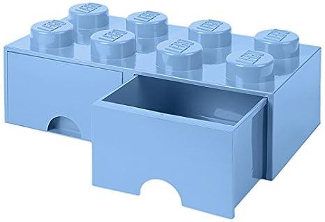 LEGO 40061736 Caja de Almacenaje Apilable, Ladrillo 8 pomos, 2 Cajones, 9.4 l, Azul (Light Royal Blue), 50 x 25 x 18 cm: Amazon.es: Hogar