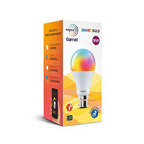 wipro 9-Watt B22 WiFi Smart LED Bulb with Music Sync (16 Million Colours + Warm White/Neutral White/White) (Compatible with Amazon Alexa and Google... 3