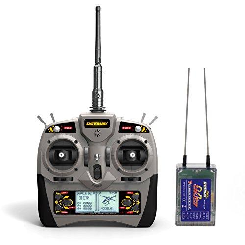 Detrum Gavin-6C 2.4G 6-Channel TX Transmitter RXC7 7CH Transmitter and Receiver DTM-T001-M2