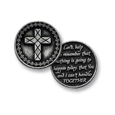 Three (3) Pewter LORD Help Me to Remember - Prayer - Pocket Tokens - 1