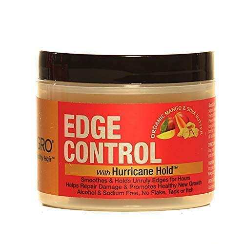 GOOD2GRO HAIR EDGE CONTROL GEL - INFUSED with MANGO and SHEA BUTTER - LOCKS IN HAIRSTYLE, PROMOTES NEW GROWTH, SMOOTHES and CONTROLS - NON-STICKY, WONT LEAVE RESIDUE OR FLAKE - FOR WOMEN and MEN 4OZ.