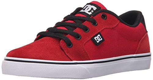 DC - Jungen Anvil Lowtop Schuhe, EUR: 32.5, Athletic Red/Black