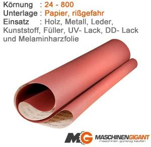 Holz Lack 100 x 915 mm Korn 360 3 Gewebe Schleifb/änder f/ür Metall Made in Germany