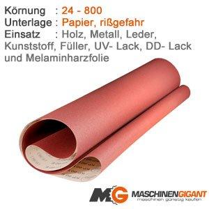 Made in Germany Holz Lack 100 x 1500 mm Korn 360 3 Gewebe Schleifb/änder f/ür Metall