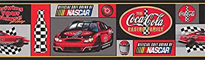 Coca Cola Official Sponsor of NASCAR Racing Cars Sports Wallpaper Border 15' x 7'' 5811295