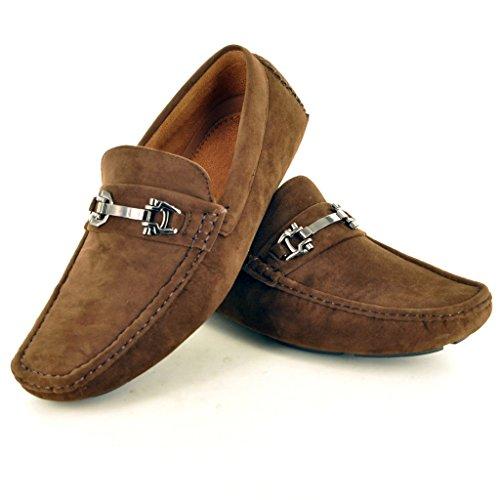 Mocassins Nouveaux De Conduite Des Foncé Les Chaussures Hommes Occasionnels Enfiler Brun Mocassins À qtwzd1w
