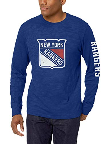 gers Male Slub Long Sleeve Team Name Tee Distressed, Royal, Medium ()