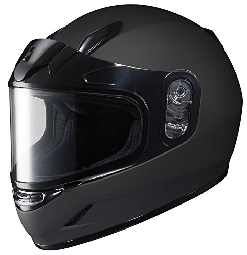 Snow Replacement Chin Curtain - HJC CS-R2SN Dual Lens Matte Black Snowmobile Helmet - Large