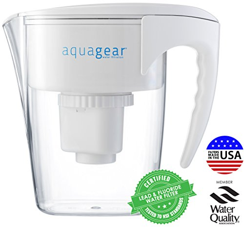 Aquagear-Water-Filter-Pitcher-Fluoride-Lead-Chloramine-Chromium-6-Filter-BPA-Free-Clear